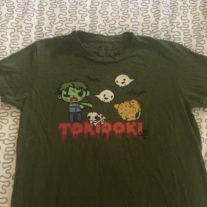Tokidoki zombie shirt green